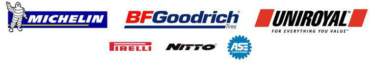 We proudly carry tires from Michelin®, BFGoodrich®, Uniroyal®, Pirelli, and Nitto. Our technicians are ASE certified.