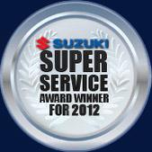 Suzuki Super Service Award Winner for 2012