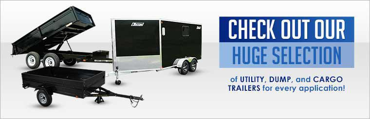 Check out our huge selection of utility, dump, and cargo trailers for every application!