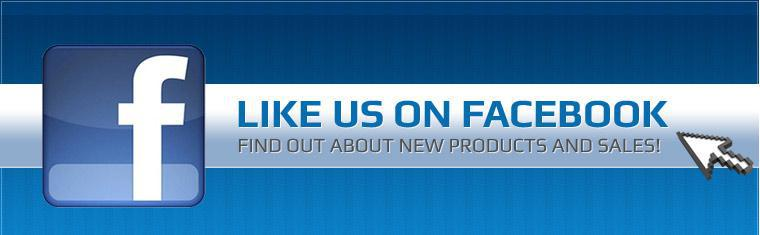 Like us on Facebook and find out about new products and sales! Click here to view our Facebook page.