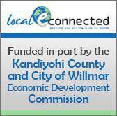 Local E-Connected. Funded in part by the Kandiyohi County and City of Willmar Economic Development Commission.
