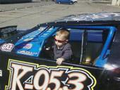 Future racer Isaiah Watkins, Jeff and Lynne's grandson.