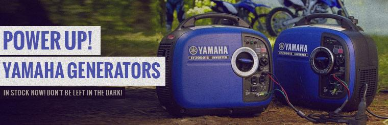 Yamaha Generators Now in Stock: Click here to view the models.