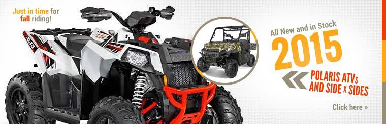 2015 Polaris ATVs and Side x Sides: Click here to view the models.