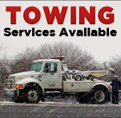 Towing services available.