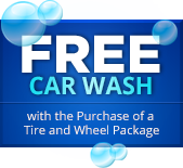 Free Car Wash with the Purchase of a Tire and Wheel Package