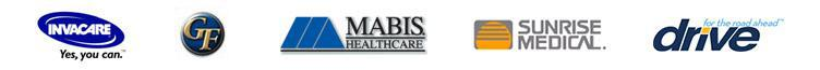 We carry products from Invacare, Graham Field, Mabis, Sunrise, and Drive Medical.