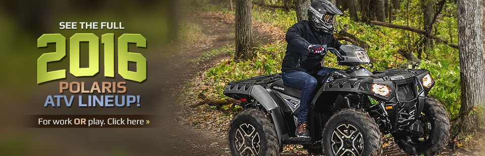 Click here to see the full 2016 Polaris ATV lineup!