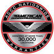 ACCC Nationwide Warranties: Honored at more than 30,000 Locations