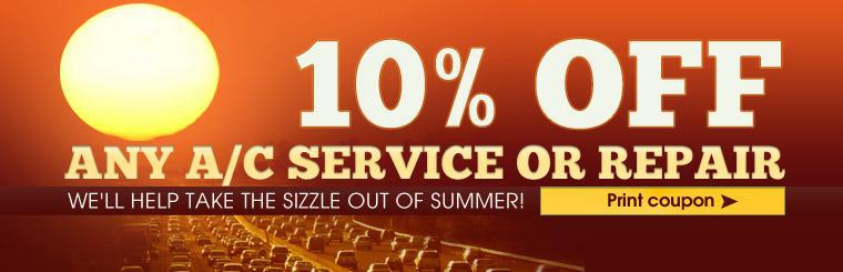 10% Off A/C Service or Repair