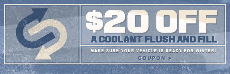 $20 Off Coolant Flush and Fill