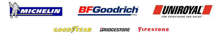We carry products from Michelin®, BFGoodrich®, Uniroyal®, Goodyear, Bridgestone, and Firestone.
