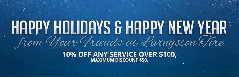 Holiday Savings: Take $10 off any service over $100! Click here to print the coupon.