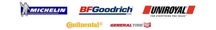 We proudly carry products from Michelin®, BFGoodrich®, Uniroyal®, Continental, and General.