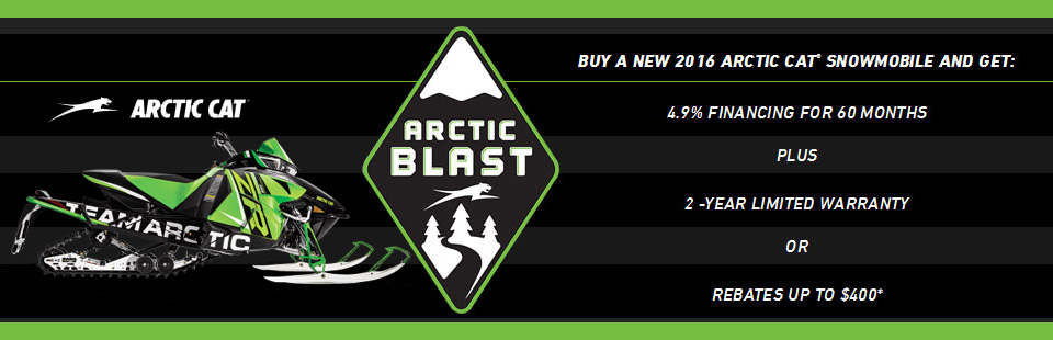 Arctic Blast - Special Financing on select 2016 Arctic Cat Snowmobiles