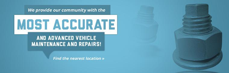 We provide our community with the most accurate and advanced vehicle maintenance and repairs!