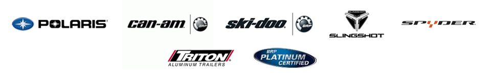 We carry products from Polaris, Can-Am, Ski-Doo, Slingshot, Spyder, and Triton. Our technicians are BRP Platinum Certified.