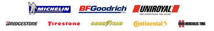 We proudly carry Michelin®, BFGoodrich®, Uniroyal®, Bridgestone, Firestone, Goodyear, Continental, and Hercules Tires.