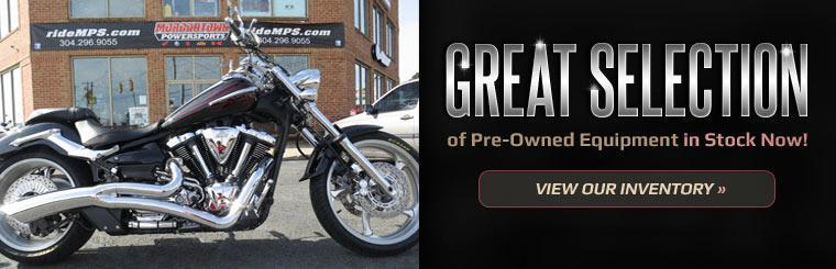 Great Selection of Pre-Owned Equipment in Stock Now: Click here to view our inventory.