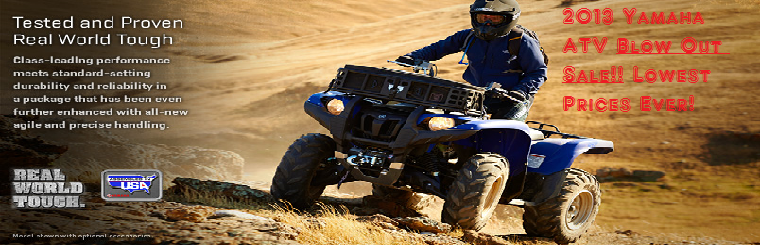 2013 Yamaha ATV Sale
