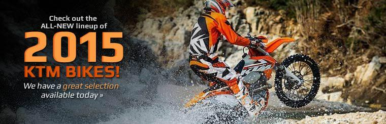 Check out the all-new lineup of 2015 KTM bikes!