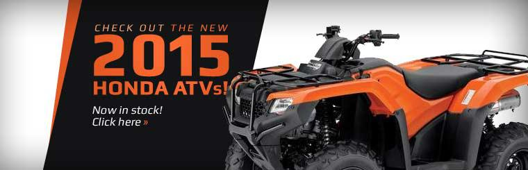 Check out the new 2015 Honda ATVs!