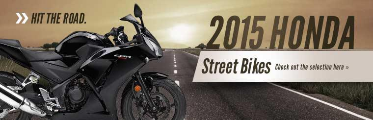 2015 Honda Street Bikes: Click here to view the models.