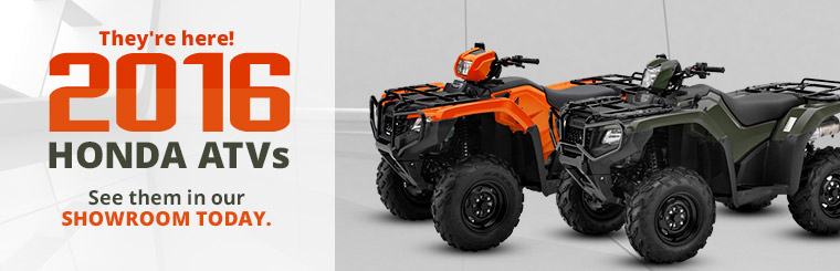 Click here to browse our selection of 2016 Honda ATVs!