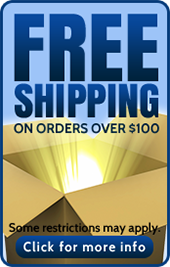 Free shipping on orders over $100. Some restrictions may apply. Click for more info.