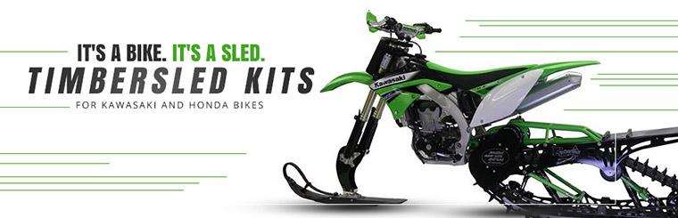 Timbersled Kits for Kawasaki and Honda Bikes: Click here to browse products.