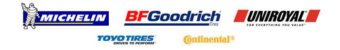 We carry products from Michelin®, BFGoodrich®, Uniroyal®, Toyo, and Continental.