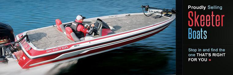 We proudly sell Skeeter Boats. Stop in and find the one that's right for you.