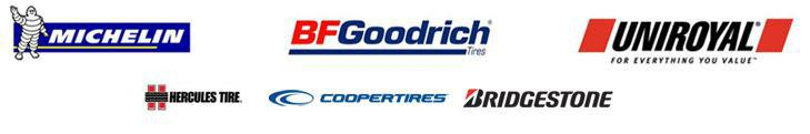 We carry products from Michelin®, BFGoodrich®, Uniroyal®, Hercules, Cooper, and Bridgestone.