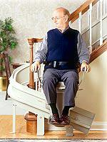 Model CRE-2100 Electra-Ride™ III Indoor Custom Curved-Rail Stairlift