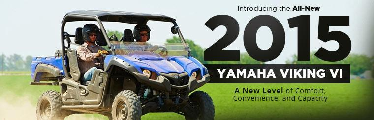 Introducing the All-New 2015 Yamaha Viking VI: Click here to view the models.