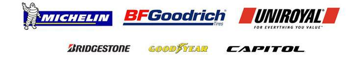 We carry products from Michelin®, BFGoodrich®, Uniroyal®, Bridgestone, Goodyear, and Capitol.