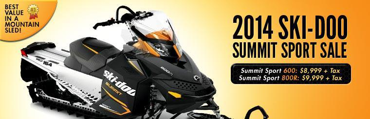 Click here to shop our 2014 Ski-Doo Summit Sport sale.