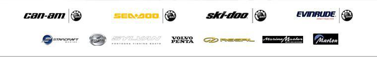 We carry products from Can-Am, Sea-Doo, Ski-Doo, Evinrude, Starcraft, Sylvan, Volvo Penta, Regal, Marine Master, and Marlon.