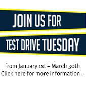 Join us for Test Drive Tuesday from January 1st – March 30th