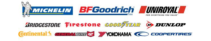 We proudly carry tires from Michelin®, BFGoodrich®, Uniroyal®, Bridgestone, Firestone, Goodyear, Dunlop, Continental, General, Yokohama, and Cooper.