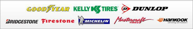 We proudly offer products from Goodyear, Kelly, Dunlop, Bridgestone, Firestone, Michelin®, Mastercraft, and Hankook.