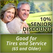 10% Senior Discount Good for Tires and Service (65 and Older)