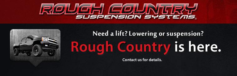 Rough Country suspension lift kits are here. Contact us for details.