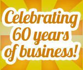 Celebrating 60 years of business.