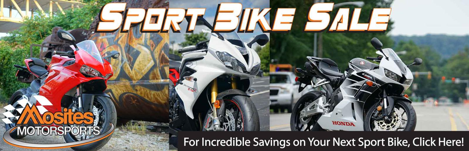 We're Offering Up All Sport Bikes with Extreme Discount!
