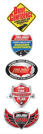Drive with Confidence Learn About Our Warranties.  Tire Pros Complimentary Roadside Assistance.   National Service Warranty Accepted at 30,000 Locations.  Tire Protection Plan.  Tire Pros $250 Promise.