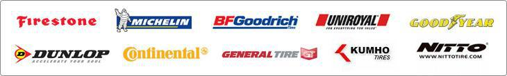 We proudly carry products from Michelin, BFGoodrich, Uniroyal, Kumho, Firestone, Goodyear, Dunlop, Continental, General, and Nitto.