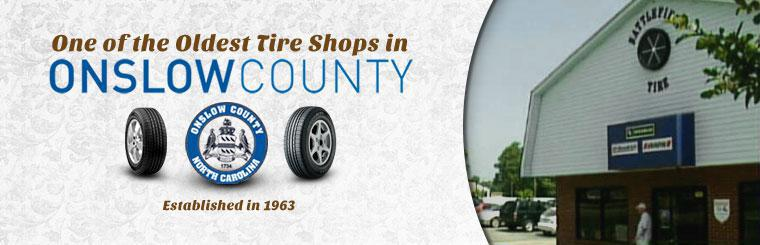 Battlefield Tire Service is one of the oldest tire shops in Onslow County!