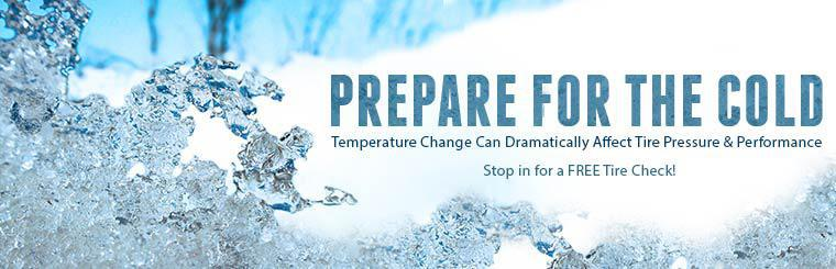 Prepare for the cold. Stop in for a free tire check!