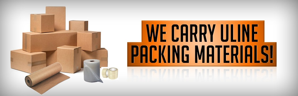 We Carry ULINE Packing Materials!